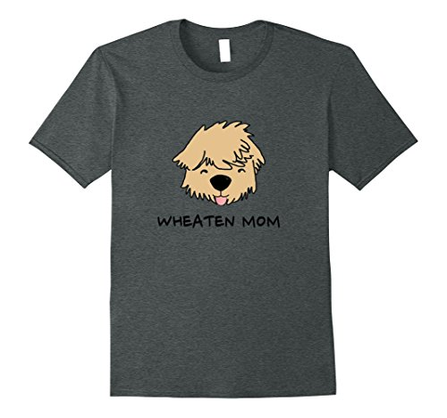 Mens Wheaten Mom Dog Face Tongue Out Cute T Shirt XL Dark Heather (T-shirt Classic Faces Soft)