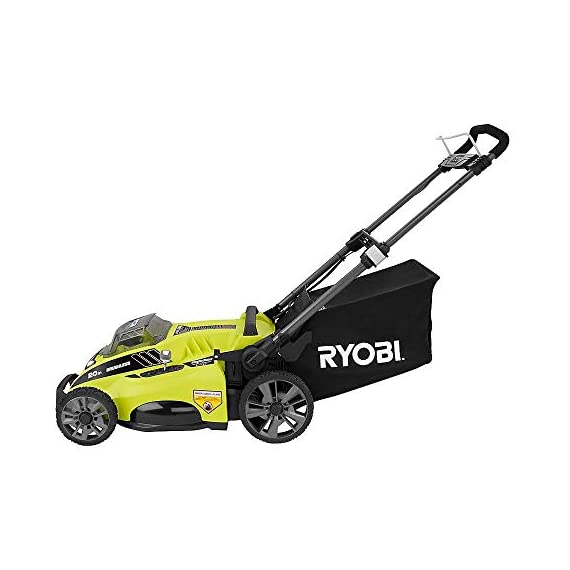 "Ryobi RY40180 40V Brushless Lithium-Ion Cordless Electric Mower Kit, with 5.0Ah Battery, 19.88"" x 40.748"" x 22.677"" 5 Grounds & Pool Supplies/Outdoor Power Equipment Made in: United States Dimensions: 19.88 X 40.748 X 22.677"