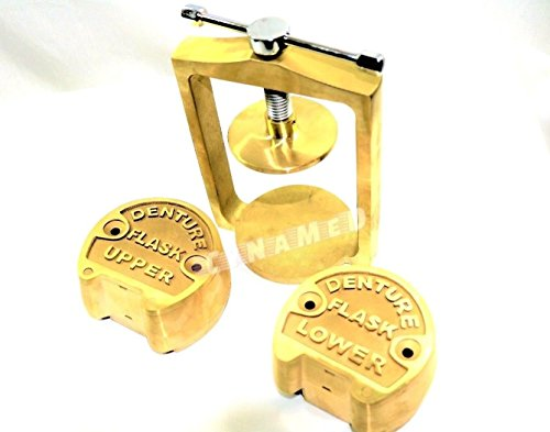 PREMIUM DENTAL LABORATORY LAB SPRING PRESS COMPRESS W/TWO BRASS DENTURE FLASK ( CYNAMED ) by CYNAMED (Image #3)