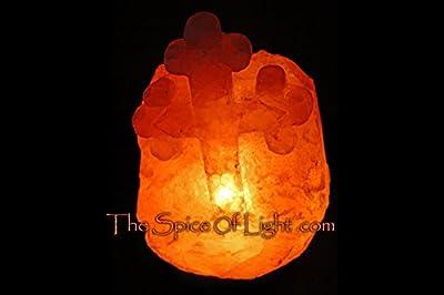 Greek Orthodox Cross Medium Himalayan Salt Lamp