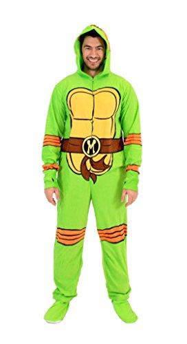 [Teenage Mutant Ninja Turtles Michelangelo Green Union Suit (Small/Medium)] (Ninja Turtle Suits)