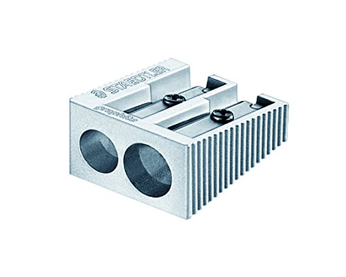 Staedtler Mars STD-510-20-A6-02 Metal Double Hole Pencil Sharpener by Staedtler