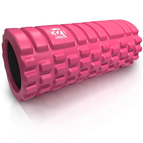 321 STRONG Foam Massage Roller - Deep Tissue Massager For Your Muscles & Back, Pink