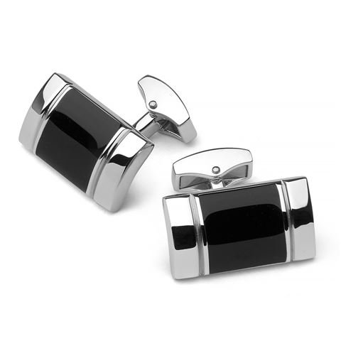 Cross apogee upper class Black with Rhodium Accent Cufflinks Rhodium Cufflinks Cufflink