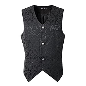 DarcChic Mens Vest Waistcoat Gothic Steampunk Victorian