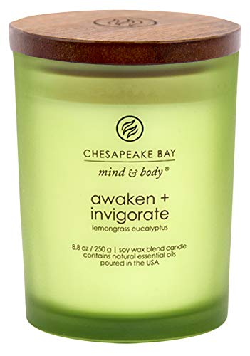 (Chesapeake Bay Candle Scented Candle, Awaken + Invigorate (Lemongrass Eucalyptus), Medium)