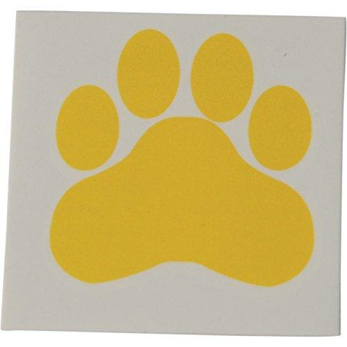 Yellow Paw Print Temporary Tattoos (Temporary Tattoos Mascots)