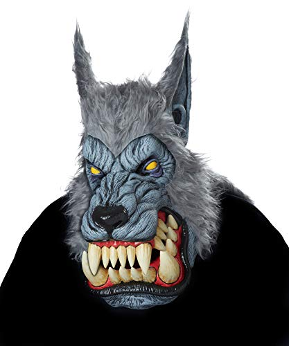 California Costumes Men's Big Mouth MASK, Lunar Psycho, One -
