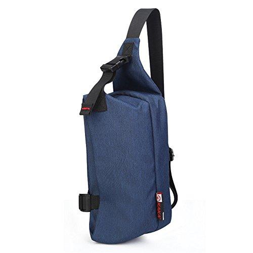 Mochila 30 cm Azul x Satchel Viaje casual Bolsos Wewod Mensajero Mens Bolso Cruz del L de Sports H Bag Outdoor 6 Pecho Hombre Bolsa Bandolera x Mochila W Deporte 18 4xZAB