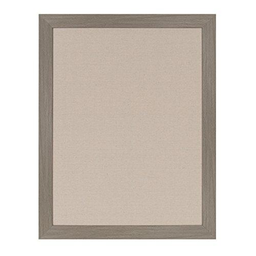 DesignOvation Beatrice Framed Linen Fabric Pinboard, 23x29, Gray