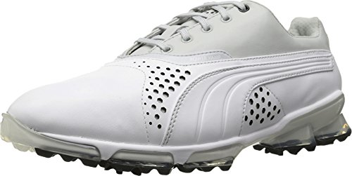 PUMA Men's Titantour Golf Shoe, Black/White, 9.5 M US