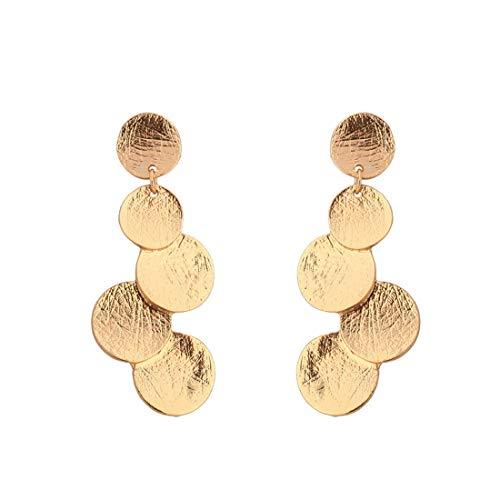 Meipa Time Geometrical Shape Alloy Earrings Long Section K Gold Earrings Ladies Little Jewelry European and American Style Earrings