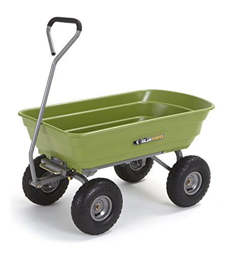 - Gorilla Carts Poly Garden Dump Cart with Steel Frame and 10