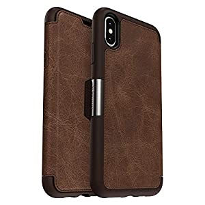 OtterBox STRADA SERIES Case for iPhone Xs Max - Retail Packaging - ESPRESSO (DARK BROWN/WORN BROWN LEATHER)