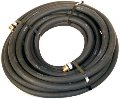 "Water Hose Continental (Formerly Goodyear) ¾"" x 100' BLACK RUBBER - Industrial Grade - US (Formerly Heavy Metal)"