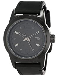 JBW Men'S J6262D Magneto Brushed Dial Leather Diamond Watch