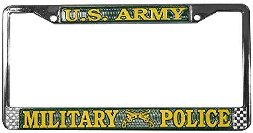 Amazon.com: US Army Military Police License Plate Frame (Chrome ...