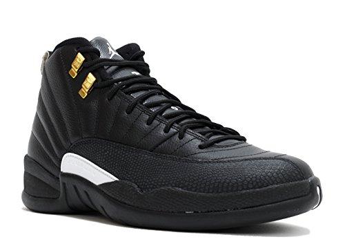 Jordan 12 Retro Heren Het Meester-zwart / Wit-zwart-metaal Goud