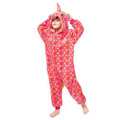 Christmas Kids Unisex Animal Flannel Unicorn Onesie Pajamas Cosplay Costume(105#(47