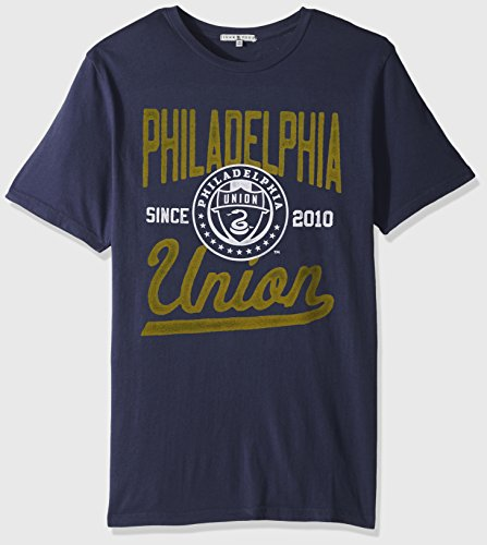 Junk Food MLS Philadelphia Union Adult Men Mens Short Sleeve Crew Neck Tee, Large, Nwny
