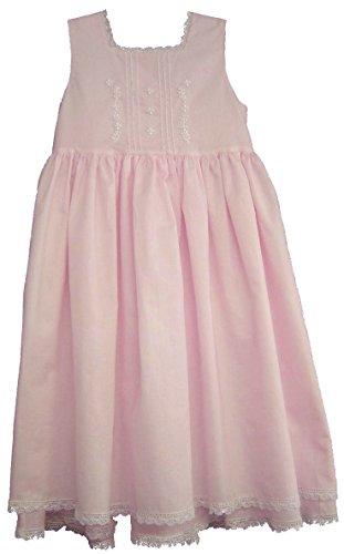 Strasburg Children Girls' Cape COD Summer Dress Lace Embroidery Flower Girl (2, (Pink Heirloom Dress)