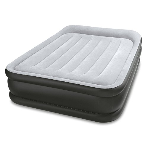 Lowest Prices! Intex Durabeam Deluxe Pillow Rest Inflatable Air Mattress Air Bed w/ Pump, Full