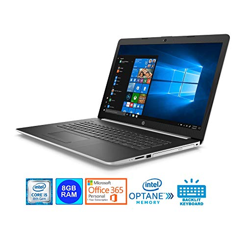HP 17-BY0028-CY Laptop Intel Core i5-8250U 8GB 1TB HDD+ 16GB...