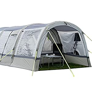 OLPRO Outdoor Leisure Products Cocoon Extension 3.5m x 1.8m Inflatable Drive Away Campervan Awning Porch Extension for Cocoon Breeze Sage Green & Chalk