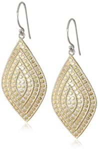 Anna Beck Designs Lombok 18k Gold-Plated Divided Shield Earrings