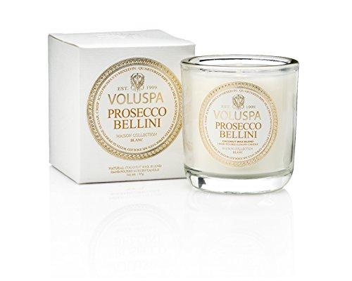 Voluspa Prosecco Bellini Classic Maison Candle, Boxed Votive, 3 Ounce ()