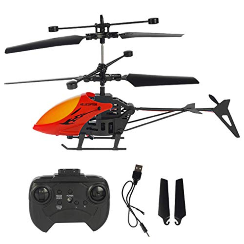 Mini RC Helicopter, Remote Control Helicopter with Gyro and Christmas Birthday Gift Toy for Kids Adults Blade Indoor Micro Helicopter for Kids with Remote Control for Boys Girls (Red)