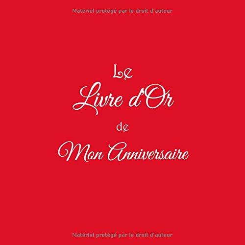 Le Livre Dor De Mon Anniversaire Livre Dor Anniversaire