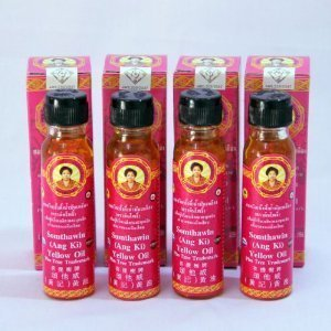 BuddyDee 4x Angki Somthawin Hotel Spa Natural Thai Aroma Herb Yellow Oil 24cc Wholesale Price Made of Thailand