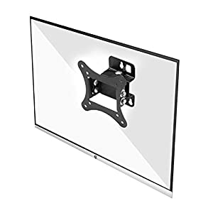 WALI TV Wall Mount Bracket Articulating Full Motion Detachable Arm for Most 23-42 inch LED, LCD Flat Screen Display, up to 44lbs (1342LM), Black