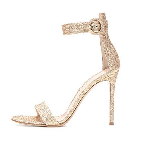 EDEFS - Zapatos con tacón Mujer dorado