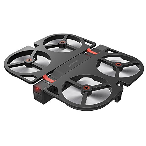 EZLIFE FUNSNAP iDol-F01 Drone, FPV RC Drone with Camera 1080P HD WiFi Live Video, Dual GPS Return Home, Quadcopter with Adjustable Wide-Angle Camera- Follow Me, Altitude Hold, Long Control Range,Black(A battery)