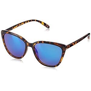 Foster Grant Women's Macy Tort Mir Cateye Sunglasses, Tortoise, 56.7 mm
