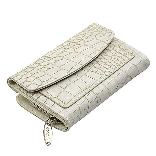 - Fashion Faux Crocodile Leather Women's Wallet and Clutch Card Holder Zipper Purse DONPUA