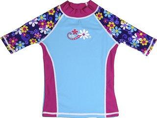UPF 50+ grUVywear UV Sun Protective Girls Rash Guard Swim Shirt
