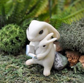 Bunny Reading To Baby Fairy Garden 17451 ()