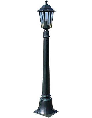 LANTERNA GIARDINO ESTERNO LAMPIONCINO  PARETE ALLUMINIO NERO NEW YORK 35 SMALL