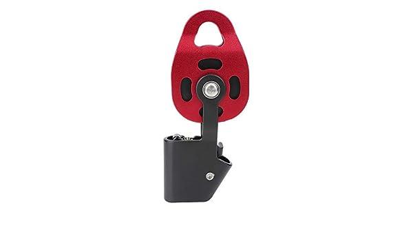 Keenso Polea 4KN 8-12 mm, Polea Aluminio para Escalada, Tirolina, Rescate: Amazon.es: Deportes y aire libre
