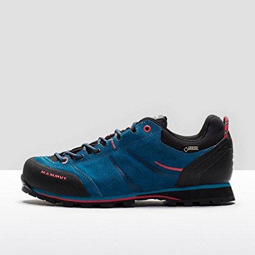 MAMMUT Wall Guide GTX niedrige Hiking-Schuhe Damen, Blau/Rot, 40