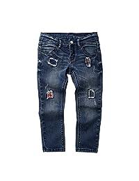Vine Kids Boys Jeans Ripped Hole Denim Pants Fashion Patch Trousers Blue