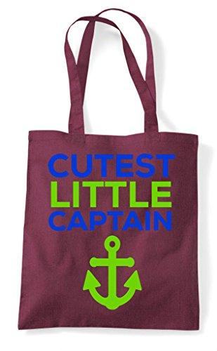 Cutest Bag Burgundy Tote Little Captain Shopper 11rSpqnaxw