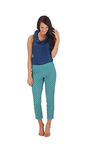 Sabrea Cropped Ankle Pant Scallop