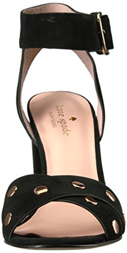 Oakwood Spade Women's Black Kate Heeled Sandal F7aTq