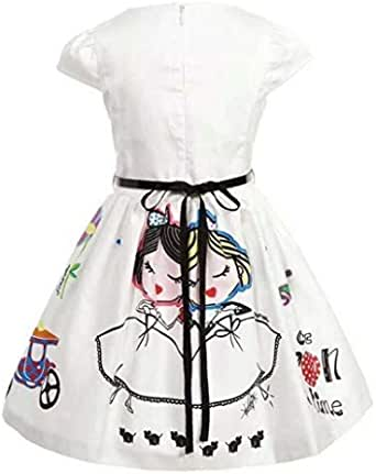 Multi Color Cotton Casual Dress For Girls