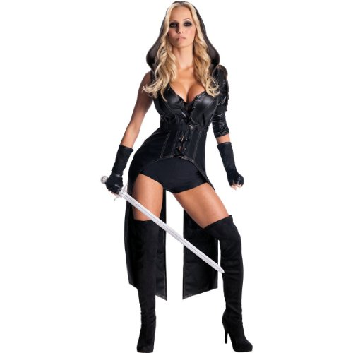 Secret Wishes Womens Sucker Punch Sweet Pea Costume, Black, -
