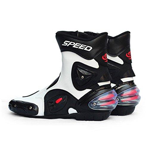Blanc Course Sports chaussures Mode Ipotch Bottes Course D'équitation De chaussures Moto wfvfx0HqY